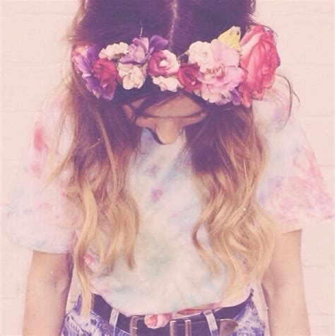 flower headband hairstyles tumblr pink flower headbands tumblr www pixshark com images