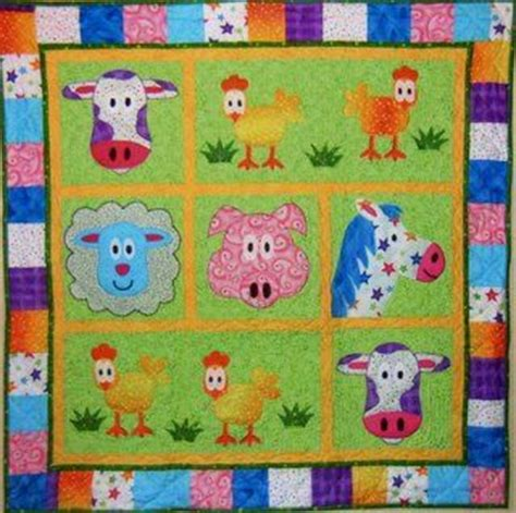 Animal Patchwork Quilt Patterns - jungle animal quilt pattern free patterns quilts