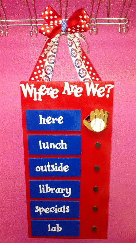 cute themes for teams quot where are we quot texas rangers baseball classroom sign