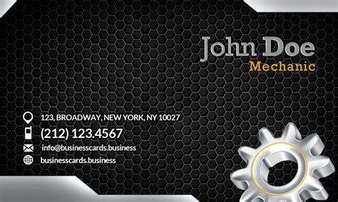 mechanic business cards templates free free mechanic business card template business cards