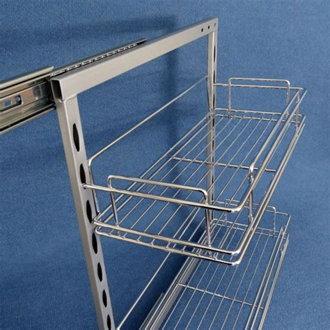 caravansplus 2 x slide out pantry 200mm plus 4 baskets