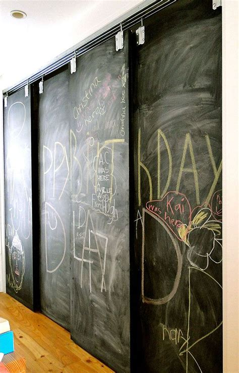 Chalkboard Sliding Closet Doors Chalk It Up Decorating Your Small Space
