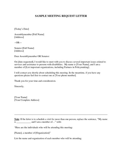Request Letter Sle For Meeting Business Meeting Request Letter Format Image Collections Letter Sles Format