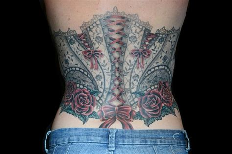 bow and rose tattoo bow corset and roses tattoos tattooshunt