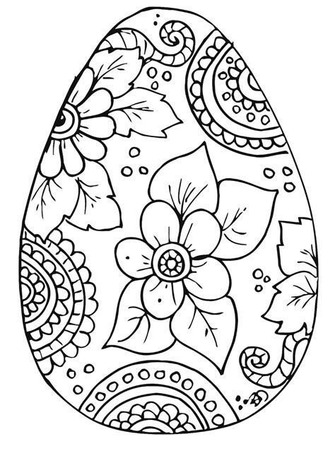 easter color free easter egg coloring pages easter celebration