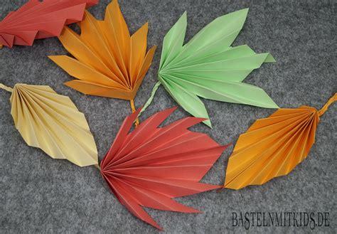 Bastelanleitungen Aus Papier by Basteln Herbst Basteln Mit Kindern