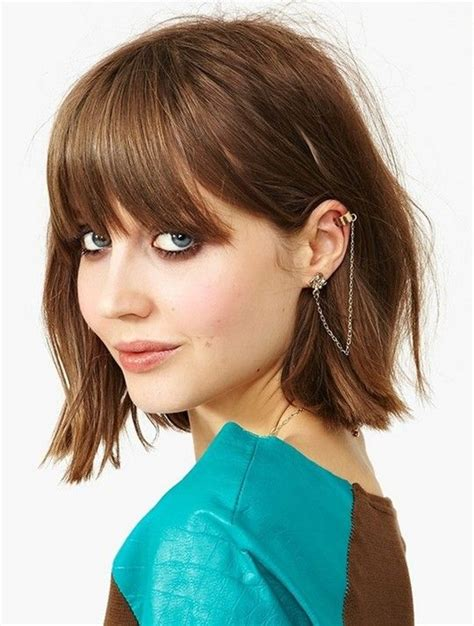 long choppy bob with fringe a playful choppy bob with bangs on the fashion time http