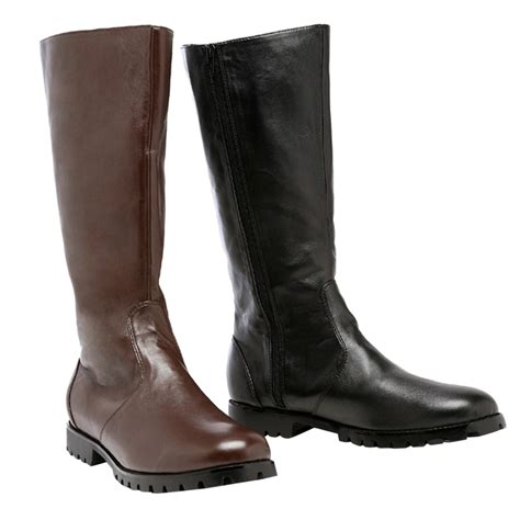 mens high heel motorcycle boots ellie 125 matey men s 1 quot heel under knee high riding boots