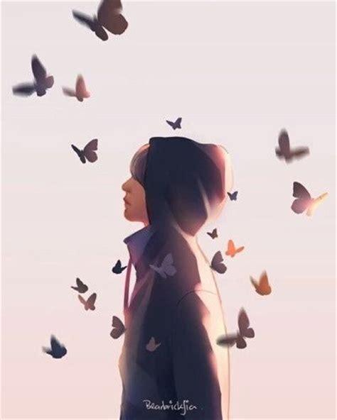 bts butterfly bts v butterfly bts fan art pinterest kpop fanart
