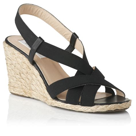 l k lkbennett gardi elasticated wedge sandals