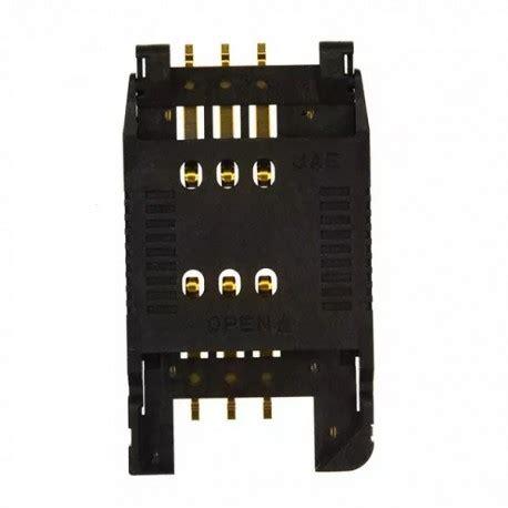 Connector Konektor Sim Card Appollo memory card connectors 2 54mm sim card smt smt