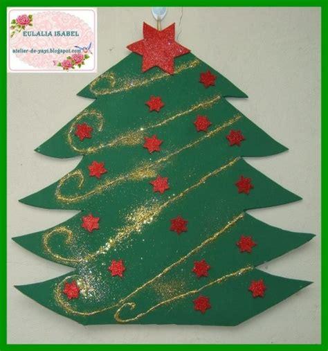 193 rbol de navidad en foami para pared adornos navidad diy