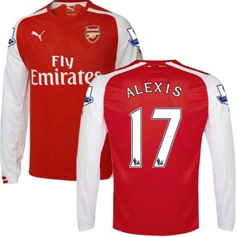 alexis sanchez jersey long sleeve men s 17 alexis sanchez arsenal fc jersey 14 15 england