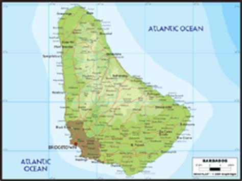barbados maps including outline and topographical maps barbados topographic map
