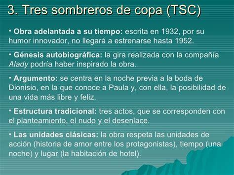 Resumen 3 Sombreros De Copa by Tres Sombreros De Copa Resumen