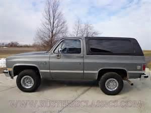 Chevrolet K5 Blazer 1987 87 Chevrolet Chevy 4x4 K5 Blazer Silverado Charcoal