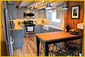 Prefabricated Kitchen Islands kitchen modern rustic kitchen design with gray u shaped