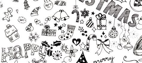 doodle zeichnen die merry zeit beginnt lasst uns weihnachtsmotive