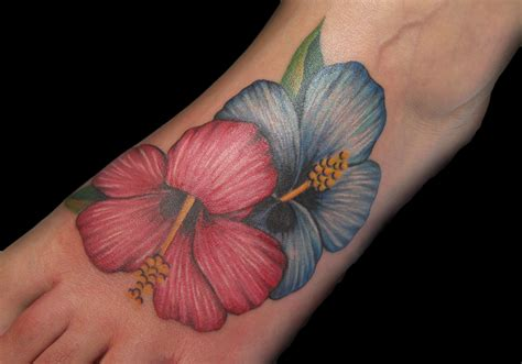 hibiscus flowers tattoo