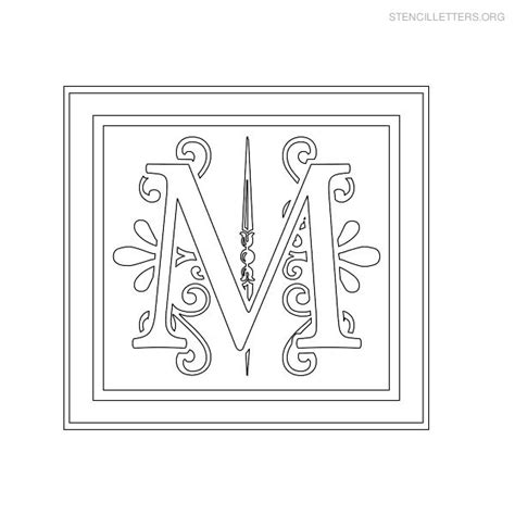 stencil letters m printable free m stencils stencil