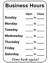 Business Hours Sign Template by New Hours In 2011 Coffey County Library