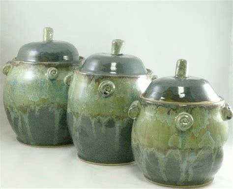 pottery canisters kitchen large kitchen ceramic canisters set cookie jar coffee