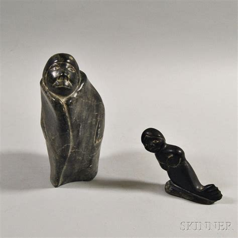 eskimo soapstone carvings two inuit soapstone carvings sale number 2864t lot