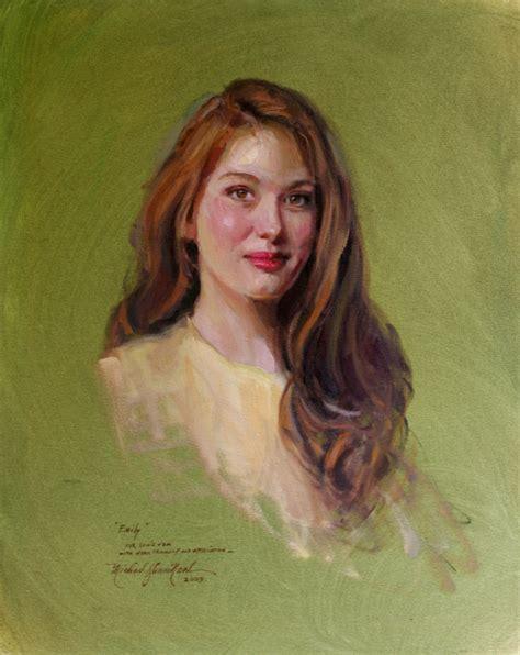 portrait painting portrait painting of emily blevins by michael shane neal the studio of portrait