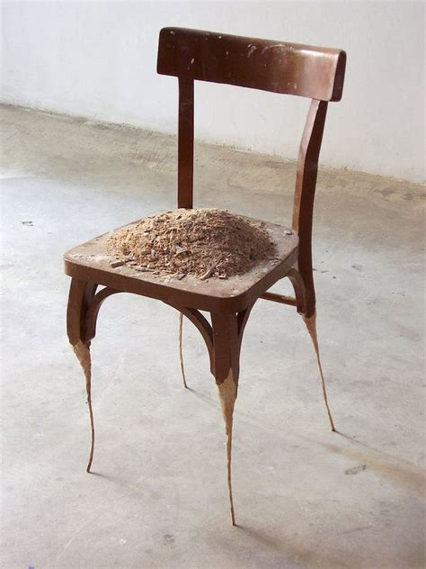 Artist Chairs Studio Contemporary Sculpture Formed From Household Objects