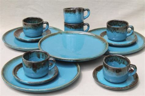 julius copper drip ceramic l blue and brown dinnerware blue dinnerware