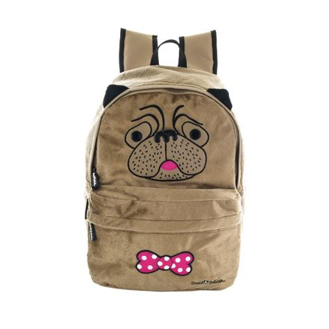pug purses and handbags david and goliath plush pug backpack bags purses new