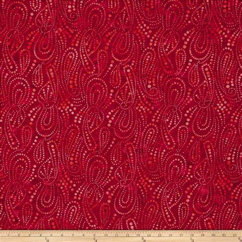 wilmington upholstery wilmington batiks paisley dots red discount designer
