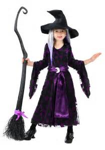 Haloween Costumes Toddler Girls Purple Moon Witch Costume