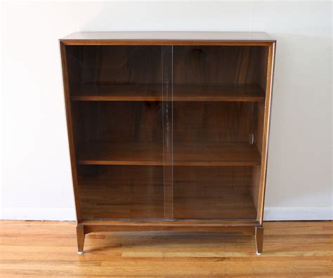 modern bookcase with doors mid century modern furniture bookcase