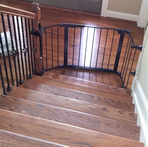 baby gate for bottom of stairs with banister stairway baby gate installation cincinnati ohio baby