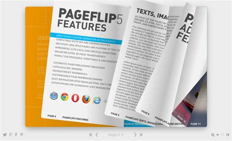 free html5 templates for books pageflip5 the html5 book template csslight