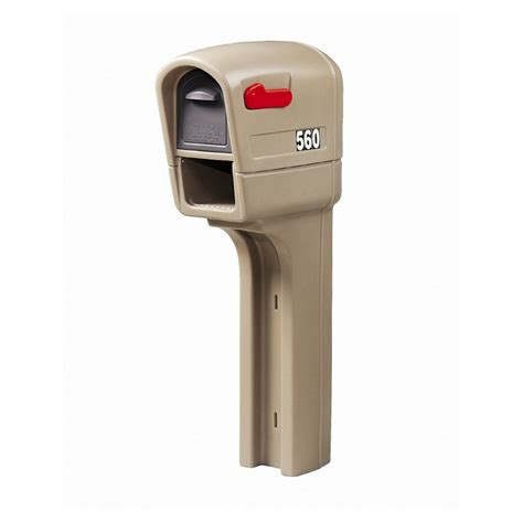 mailbox for shop step 2 mailmaster 12 5 in x 51 in plastic gray