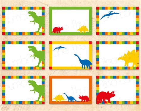 printable birthday cards dinosaur free dinosaur printable buffet cards food tags name tags by