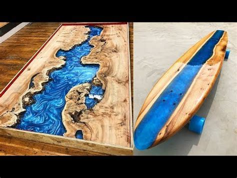 amazing epoxy resin  wood river table awesome