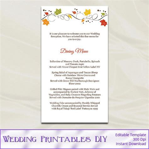 1000 ideas about fall wedding menu on pinterest wedding