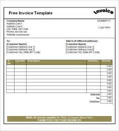 Printable Invoice Template Free by Blank Invoice Template 30 Documents In Word Excel Pdf