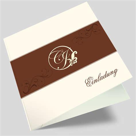 Hochzeitseinladung Ornament by Hochzeitseinladung Stylishe Ornamente In Braun