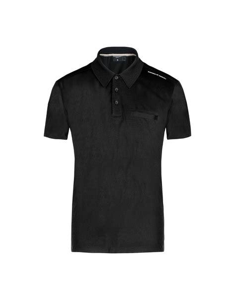 design a polo shirt uk porsche design polo shirt in black for men lyst