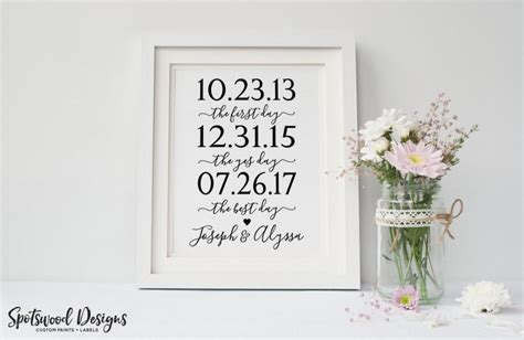 free printable engagement party decorations first day yes day best day custom print our love story