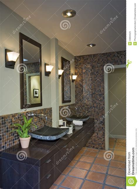 home interior bathroom mirror and sink stock photo image ls by mirrors over sinks in bathroom stock image