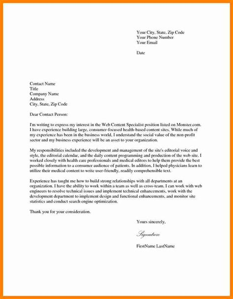 Cover Letter For 7 Exles Of Cover Letter For Application Assembly Resume