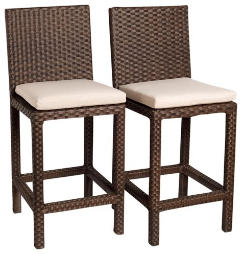 contemporary outdoor bar stools monza barstools set 2 piece contemporary outdoor bar
