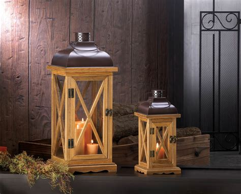 Bulk Home Decor | hayloft large wooden candle lantern wholesale at koehler
