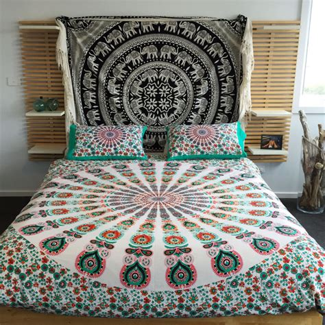 Indian Quilt Covers by Indian Mandala Tapestry Duvet Cover Hippie Blanket