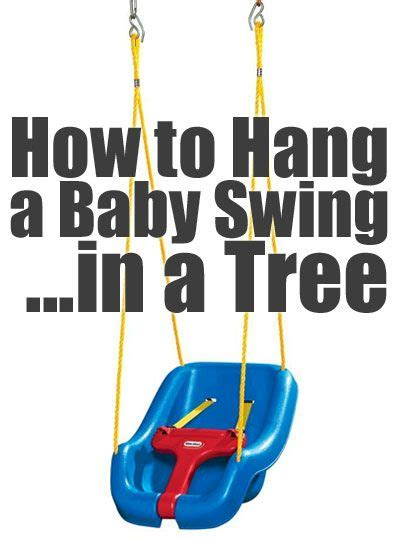 how to hang swing from tree 25 best ideas about outdoor baby swing on pinterest